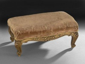 Louis XV-Style Giltwood Footstool