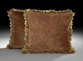 Pair Of Velvet Decorative Pillows
