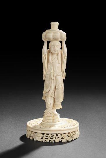 751: Japanese Carved Ivory Okimono