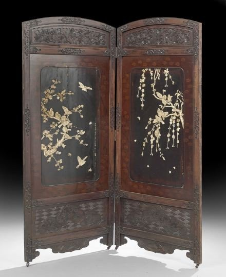 753: Chinese Two-Panel Folding Screen