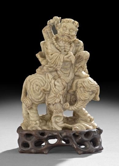 756: Good Chinese Carved Soapstone Group