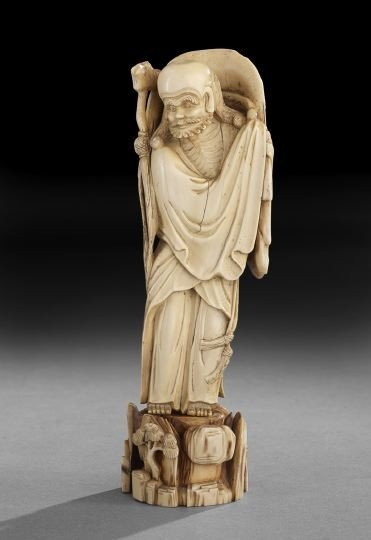 763: Chinese Carved Ivory Figure of a Sage