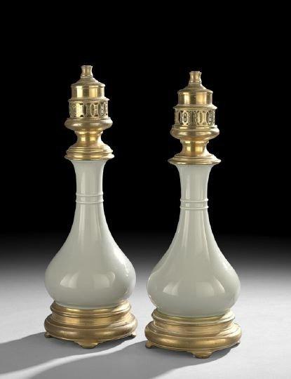 767: Pair of Chinese Celadon Porcelain Bottle Vases