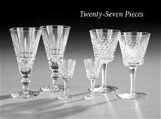 1285: 27 Piece Group of Waterford Crystal Stemware