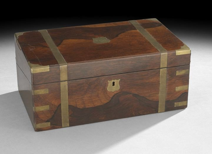 1477: English Rosewood Victorian Lap Desk