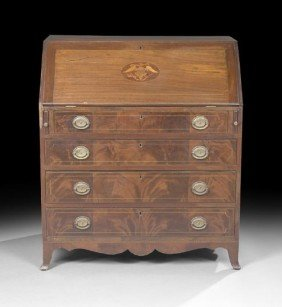 American Federal Mahogany Slant-Lid Desk