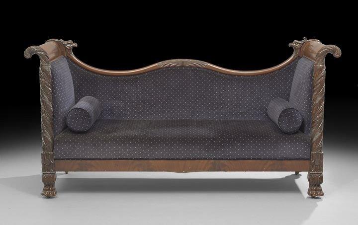 1590: American Late Classical Revival Mahogany Sofa