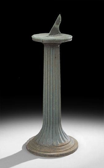 1591: Victorian Cast-Iron Pedestal and Sundial