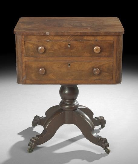 1596: American Late Classical Mahogany Work Table