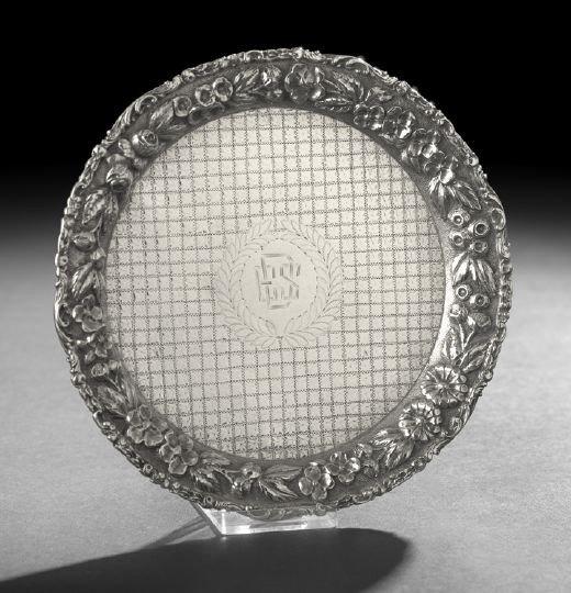 1605: Baltimore Rose Sterling Silver Waiter