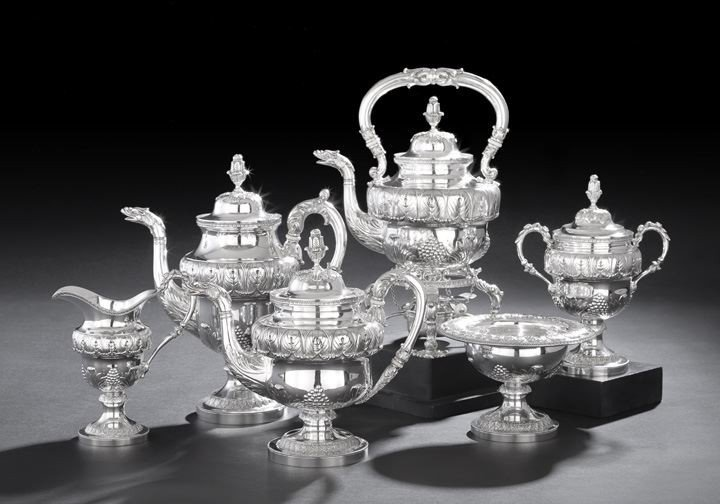 1607: Six-Piece Kirk & Son Sterling Coffee and Tea Set