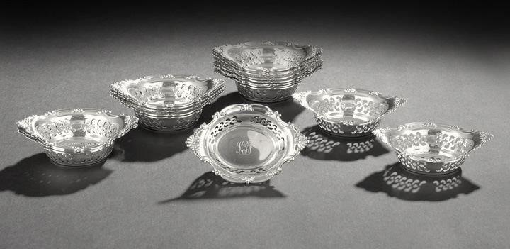 1609: Set of Nineteen Gorham Sterling Silver Nut Dishes