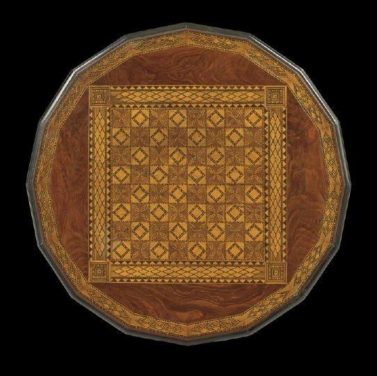 1680: American Renaissance Revival Checkerboard Table - 2