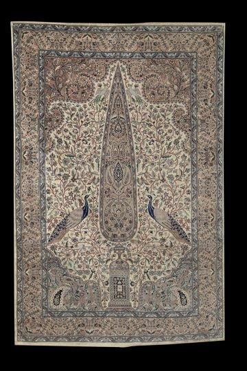 1880: Semi-Antique Tabriz Carpet