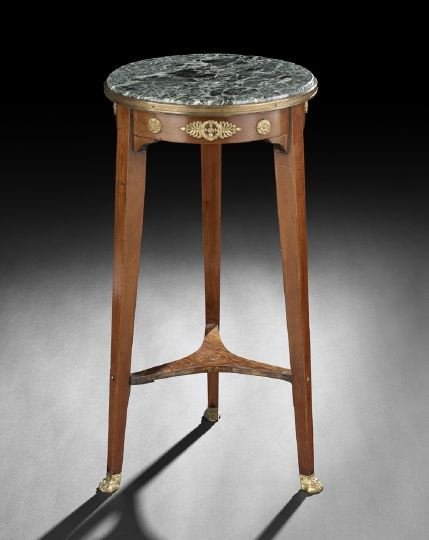 4: Empire-Style Marble-Top Pedestal Table