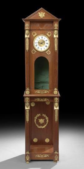 6: Empire-Style Mahogany Clock
