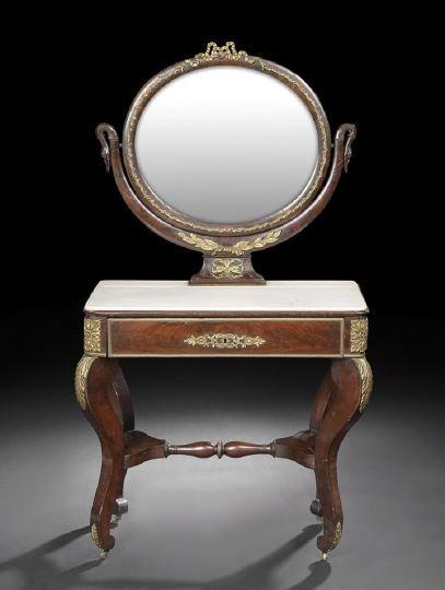 7: Empire-Style Mahogany Dressing Table