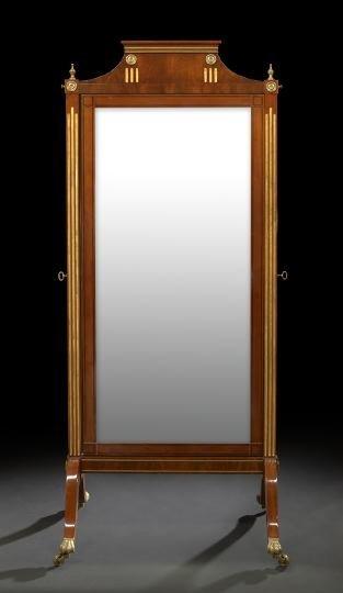 10: Empire-Style Mahogany Cheval Mirror