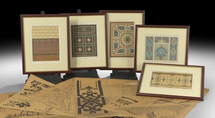 14: Five German Decorative Painting Lithographs