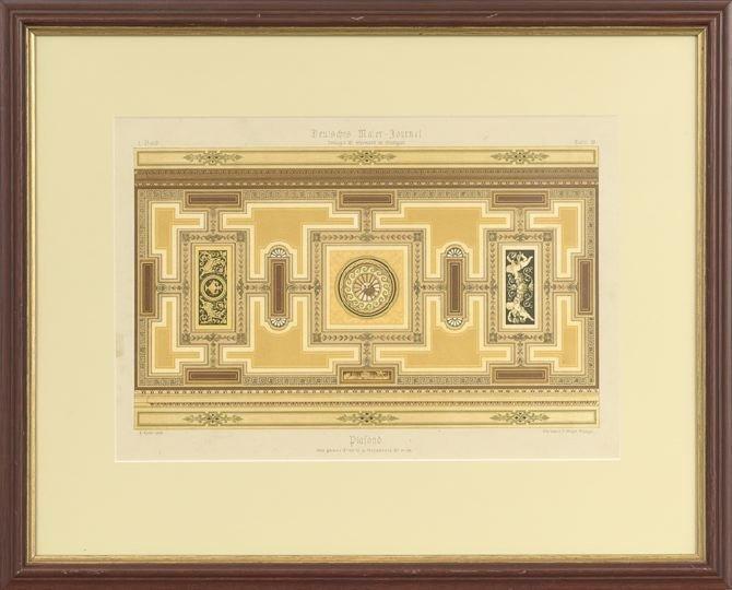 14: Five German Decorative Painting Lithographs - 3