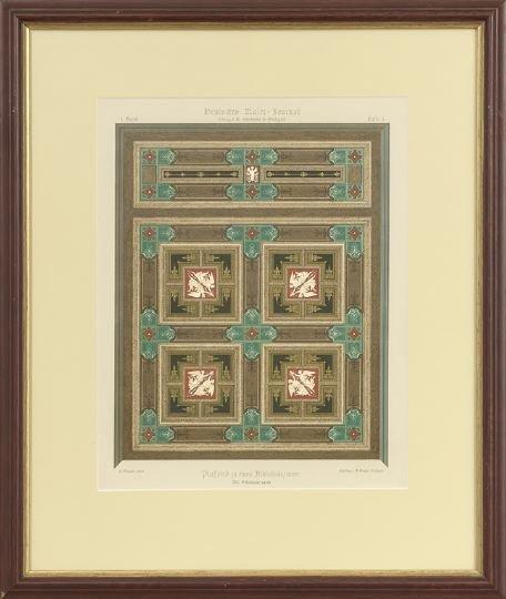 14: Five German Decorative Painting Lithographs - 5