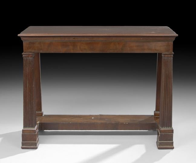 21: Neoclassical-Style Mahogany Side Table