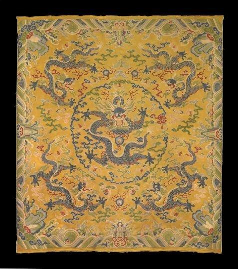 183: Rare Chinese Nanjing Yunjin Brocade Cushion Cover