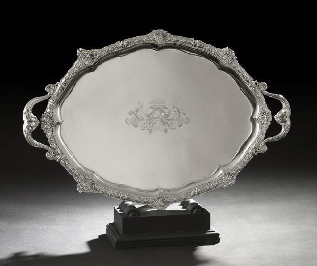 339: Good Regency Sterling Silver Tray