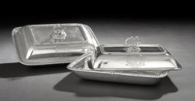 Pair Of Late George III Sterling Entree Dishes