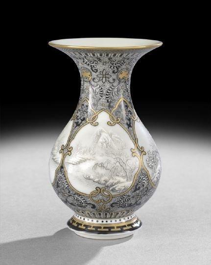395: Chinese Black-and-Gilt Decorated Porcelain Vase