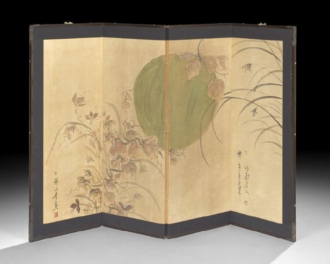 397: Japanese Four-Panel Floor Screen
