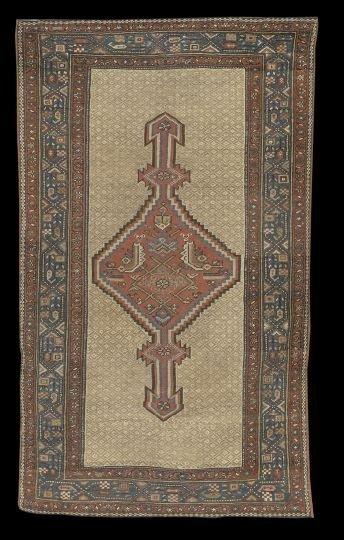 403: Antique Persian Serab Camel-Hair Carpet