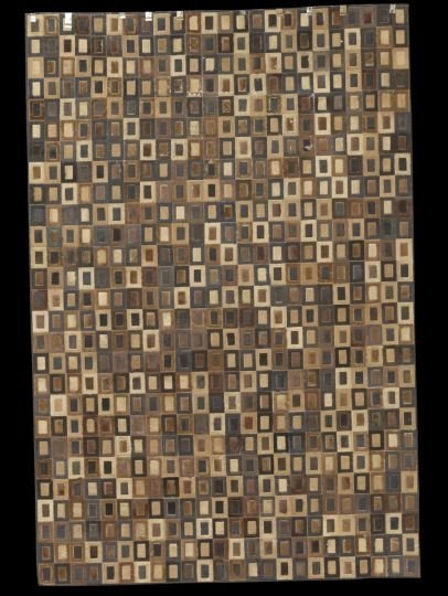 "408: Kyle Bunting ""Surrender"" Pattern Cow Hide Carpet"