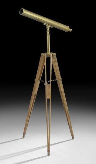 508: Brass Van Cort Instrument Maker Telescope