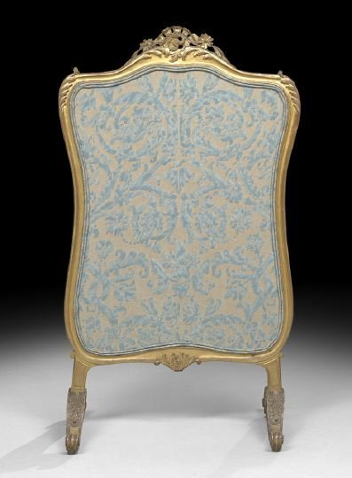 633: Louis XV-Style Giltwood Firescreen
