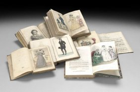 Six Volumes With Hand-Colored Fashion Plates
