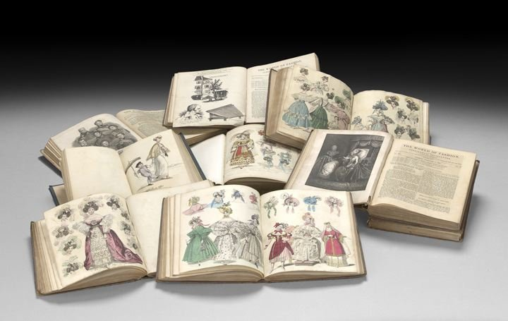 838: Nine Volumes with Hand-Colored Fashion Plates