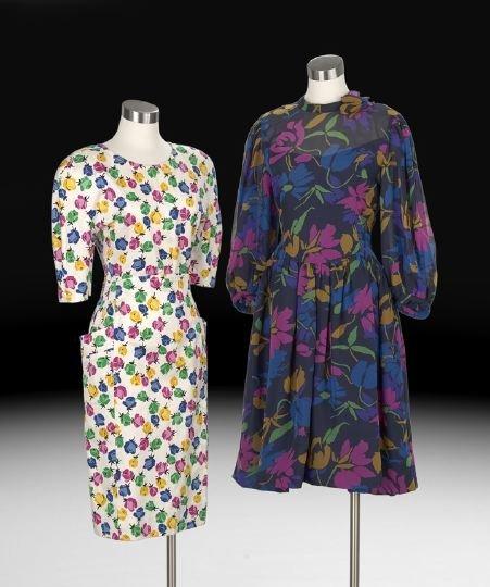 843: Two Designer Dresses