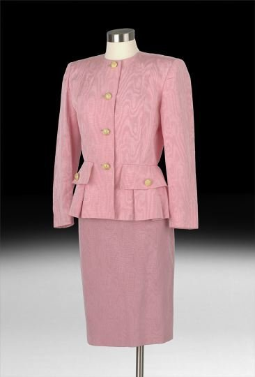 845: Nina Ricci, Paris, Pink Silk Moire Suit