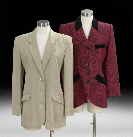 851: Two Vintage Smoking Jackets