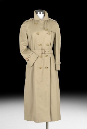 856: Classic Burberrys Cotton Belted Trench Coat