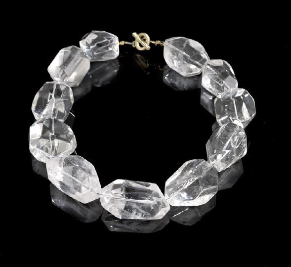 935: Lady's Natural Rock Crystal Necklace