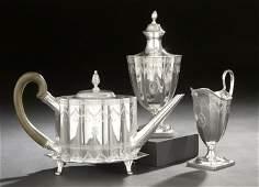 "1022: Tiffany Four-Piece Sterling ""Paul Revere"" Tea Set"
