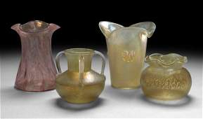 1429: Four-Piece Collection of Blown Art Glass