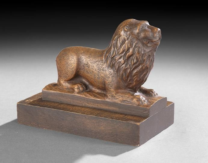 3: English Carved Wooden Figure of a Lion