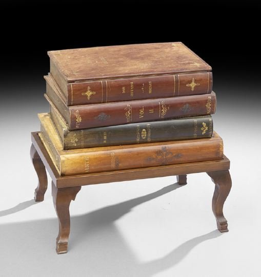 7: Edwardian-Style Side Table and Box-on-Stand