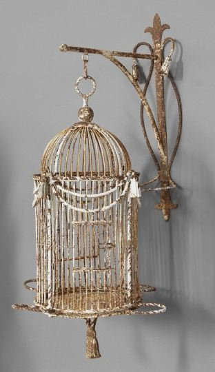 12: Continental Painted Iron Birdcage