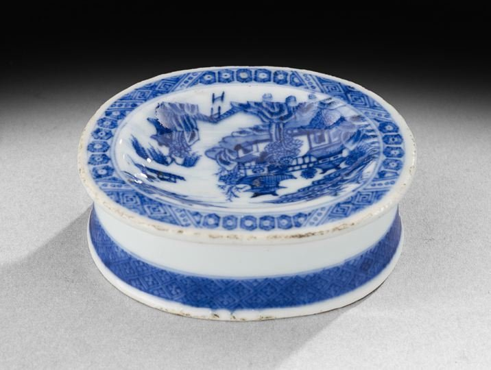 425: Chinese Export Porcelain Blue-and-White Salt Dish