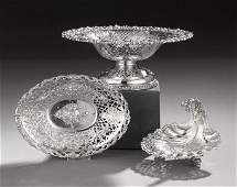 549 Three Silver and Silverplate Reticulated Dishes
