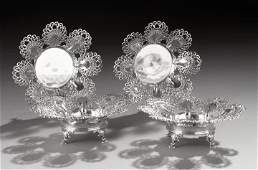 1261: Four Tiffany & Co. Sterling Sweetmeat Dishes